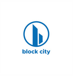 block city abstract b logo vector image