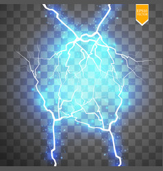 Blue abstract energy shock explosion special light vector