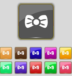 Bow tie icon sign Set with eleven colored buttons vector