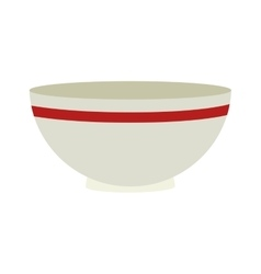 bowl kitchen utensils icon isolated vector image
