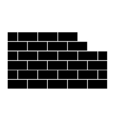 brick wall icon image vector image
