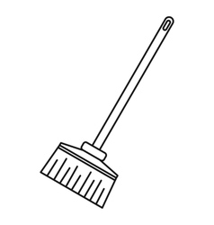 Broom icon outline style vector image