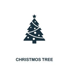 christmos tree icon premium style design from vector image