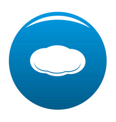 Cloud icon blue vector