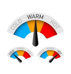 cold warm and hot temperature gauge vector image