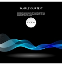Colorful abstract waves on black background vector image