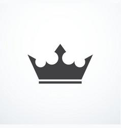 crown icon vector image