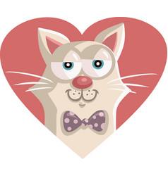cute cat cartoon character mascot vector image