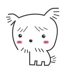 cute dog on white background logo design vector image