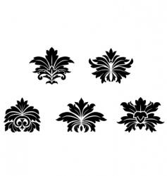 damask patterns vector image