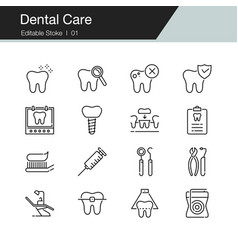 Dental care prevention check up and dental vector