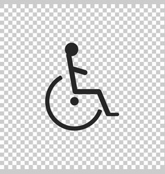 disabled handicap icon on transparent background vector image