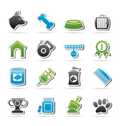 Dog and Cynology object icons vector