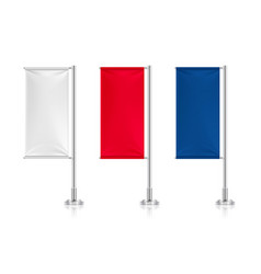 flag banners white red blue textile flags vector image