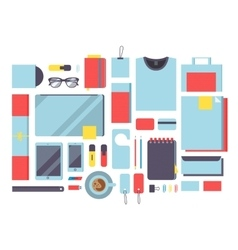 Flat mockup design concept vector image