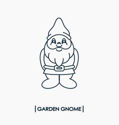 Garden gnome icon vector