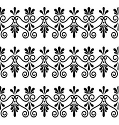greek floral seamless pattern - ancient vector image