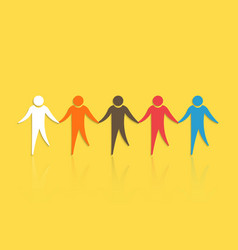 group people with holding hands concept vector image