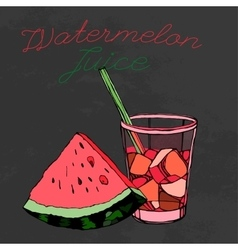 Hand drawn Watermelon 02 A vector image