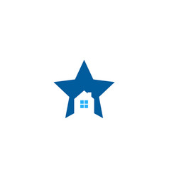 home star logo icon design vector image