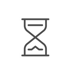 hourglass line icon vector image