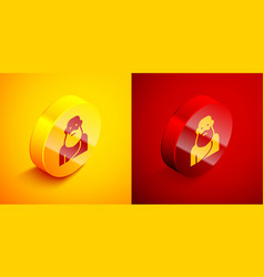Isometric socrates icon isolated on orange and red vector