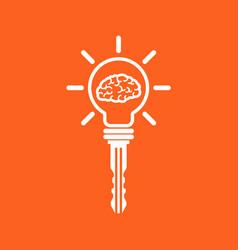 key of idea vector image