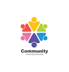 Leadershipcommunitysocial and company logo icon vector