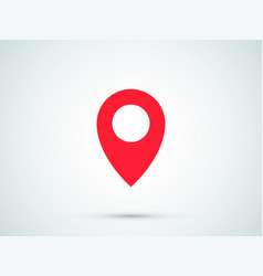 Location pin red gps navigation icon vector