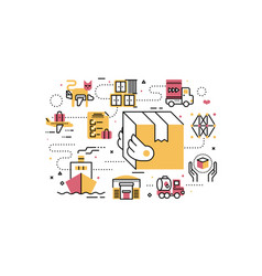 logistics and transportation vector image
