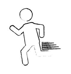 Man running icon vector