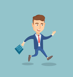 man running in a hurry to the store on sale vector image