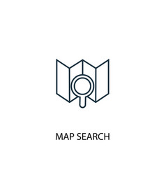 Map search concept line icon simple element vector