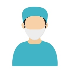 Medic or doctor with surgery outfit icon vector