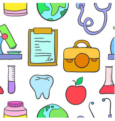 Medical doodle style design vector