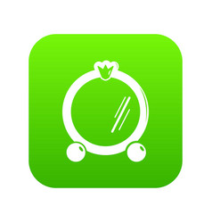 mirror frame icon green vector image