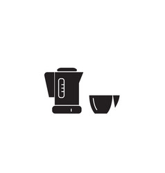 mixer with a bowl black concept icon mixer vector image
