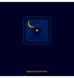 night house sign vector image