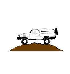 Off road car vector image