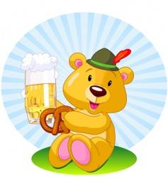 oktoberfest bear vector image