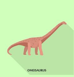 Omeisaurus icon flat style vector