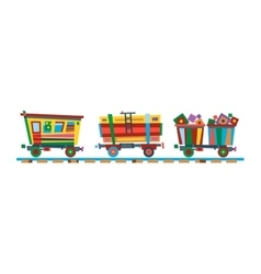 Railway train station vector image