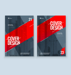 Red brochure design a4 cover template vector