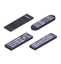 Remote icons set isometric style vector