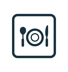 Restaurant icon Rounded squares button vector