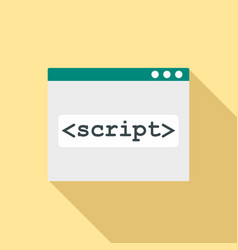 script window icon flat style vector image