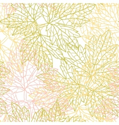 Seamless pattern with stylized autumn leaves vector image