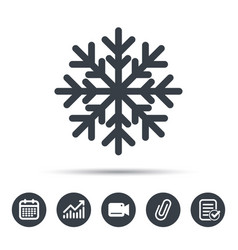 Snowflake icon air conditioning sign vector