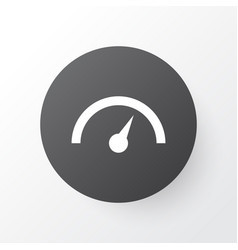 speedometer icon symbol premium quality isolated vector image
