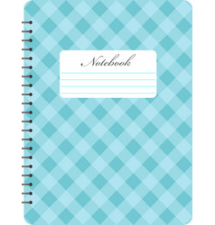 spiral notepad notebook closed notebook vector image